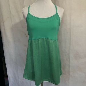 Champion Green Work Out Top Built In Shelf Bra